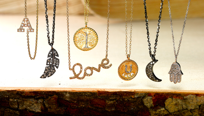 Sentiments collection of necklaces and pendants